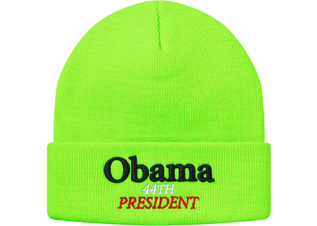 fead3cc700d Supreme Obama Beanie Fluorescent Green - StockX News