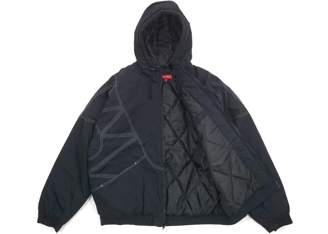 Supreme Zig Zag Stitch Puffy Jacket Black