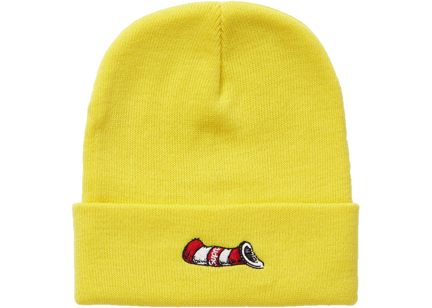 Supreme Cat in the Hat Beanie Bright Yellow - FW18 dac1815ed65