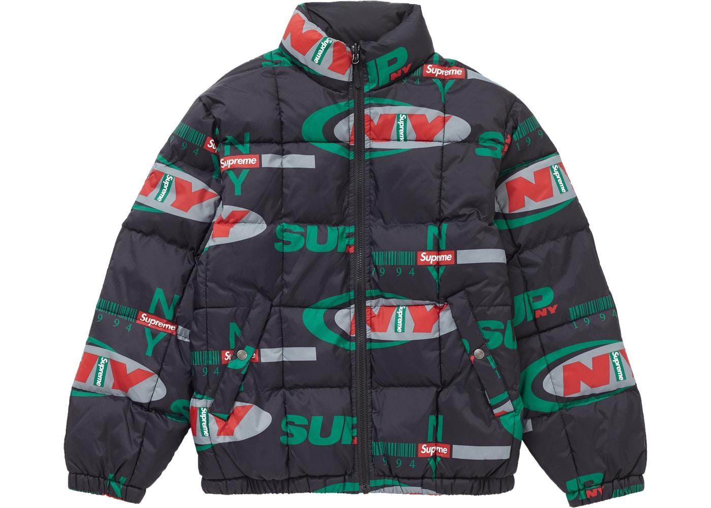 Supreme Ny Reversible Puffy Jacket Black