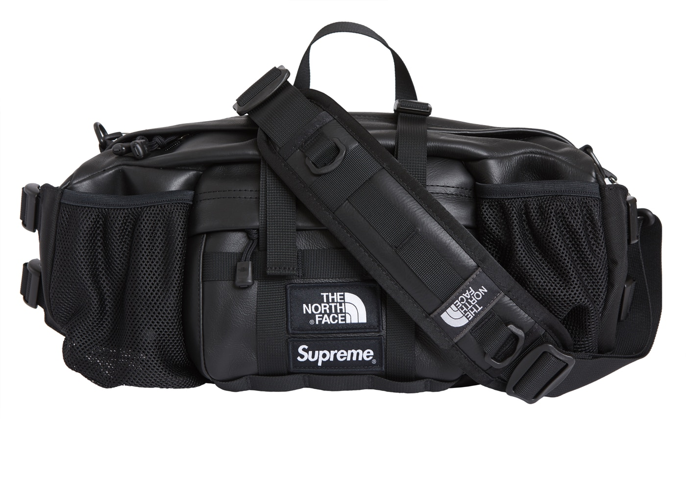 561c6265c Supreme The North Face Leather Mountain Waist Bag Black
