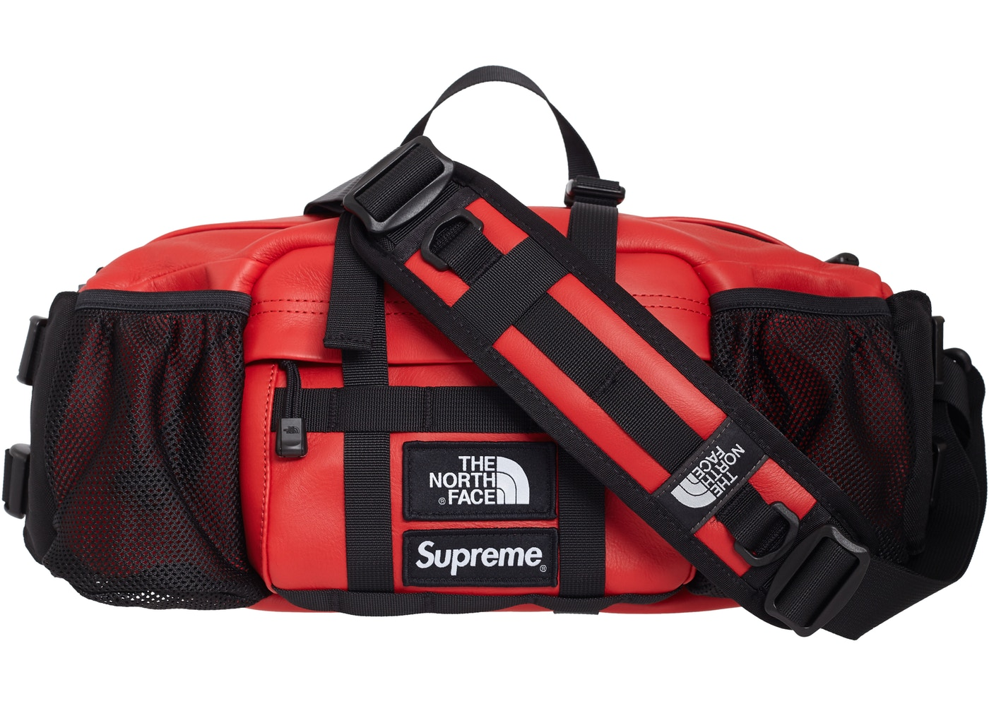 size 40 7d3d4 3310e Supreme The North Face Leather Mountain Waist Bag Red