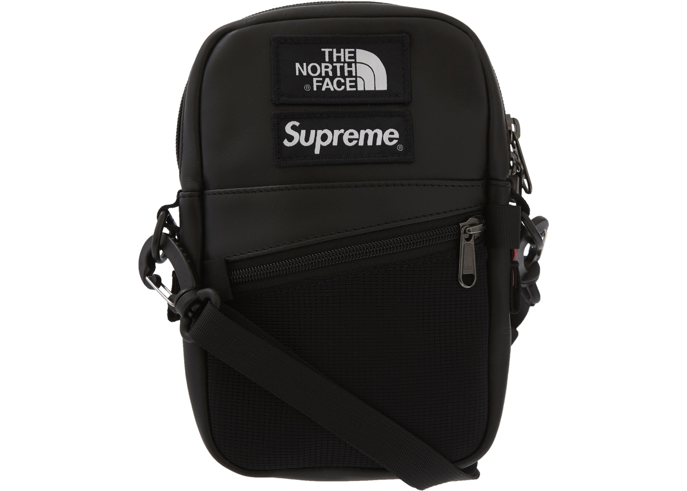 4e4a0d3ed Supreme The North Face Leather Shoulder Bag Black - FW18