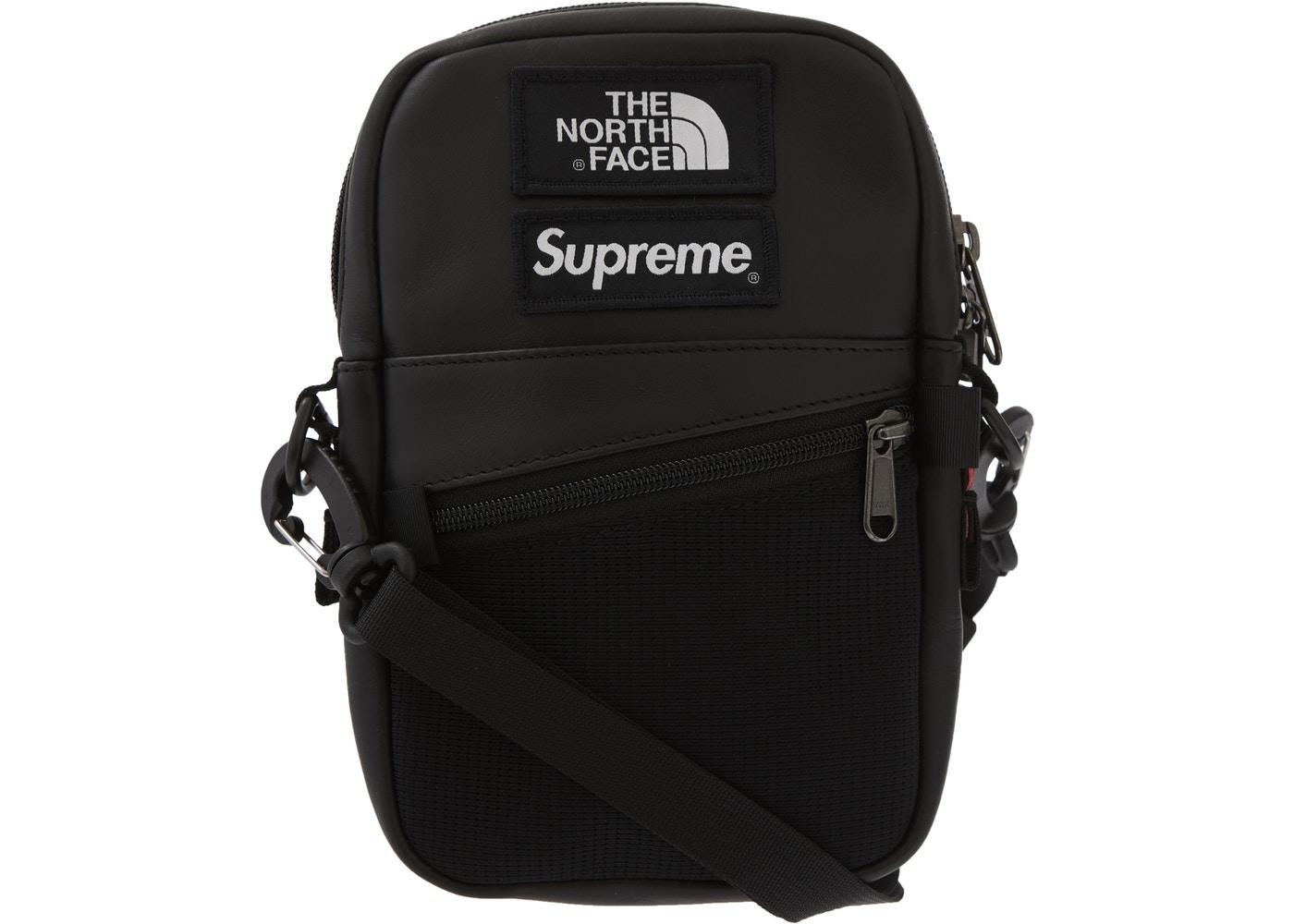 913c008c3 Supreme The North Face Leather Shoulder Bag Black - FW18