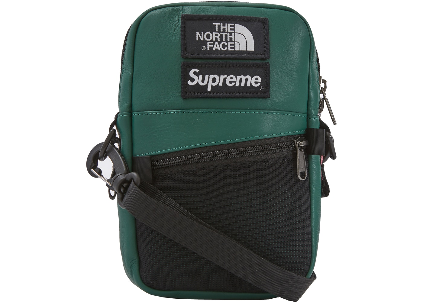 811427e14 Supreme The North Face Leather Shoulder Bag Dark Green