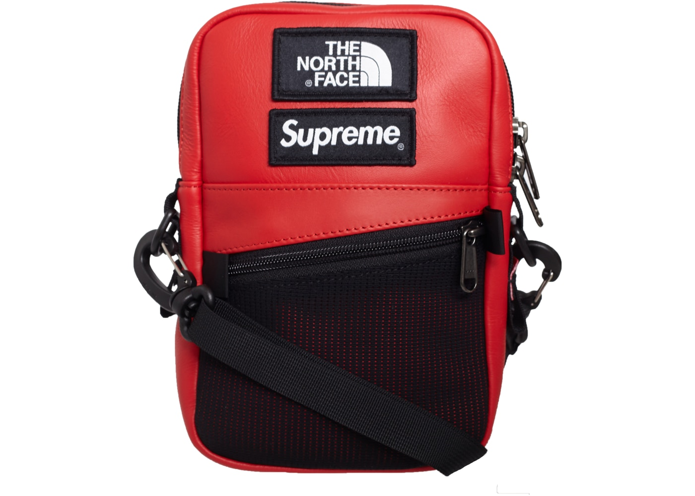 Supreme The North Face Leather Shoulder Bag Red - FW18 6b62ef0c407e4