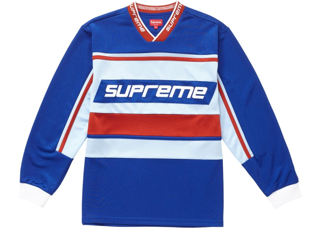 cb7112fc306d Supreme Warmup Hockey Jersey Blue - StockX News