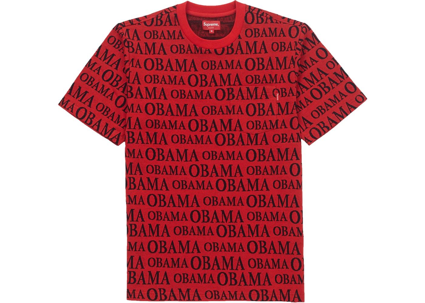 444e89cb Supreme Obama Jacquard S/S Top Red - FW18