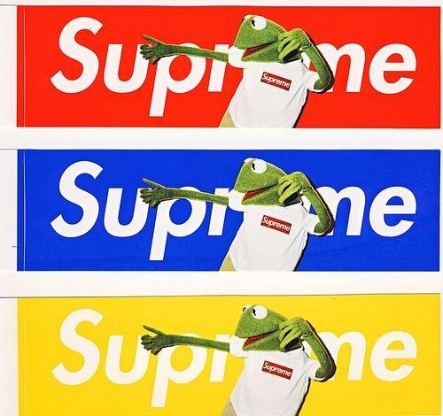 supreme kermit sticker