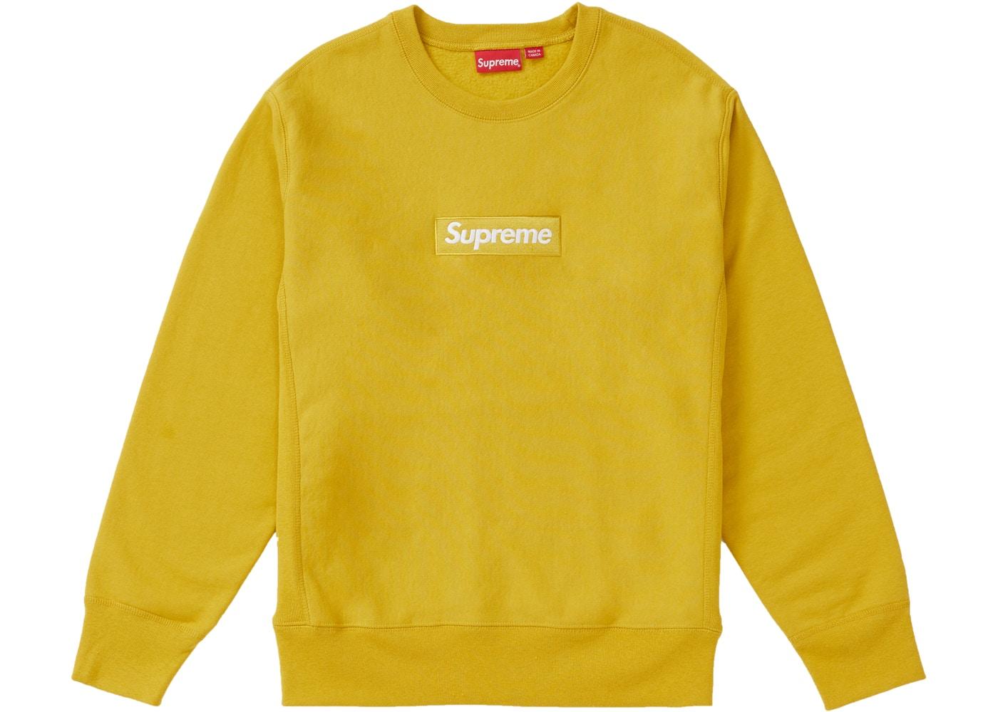 d9ea9b71d948 Supreme Box Logo Crewneck (FW18) Mustard - FW18