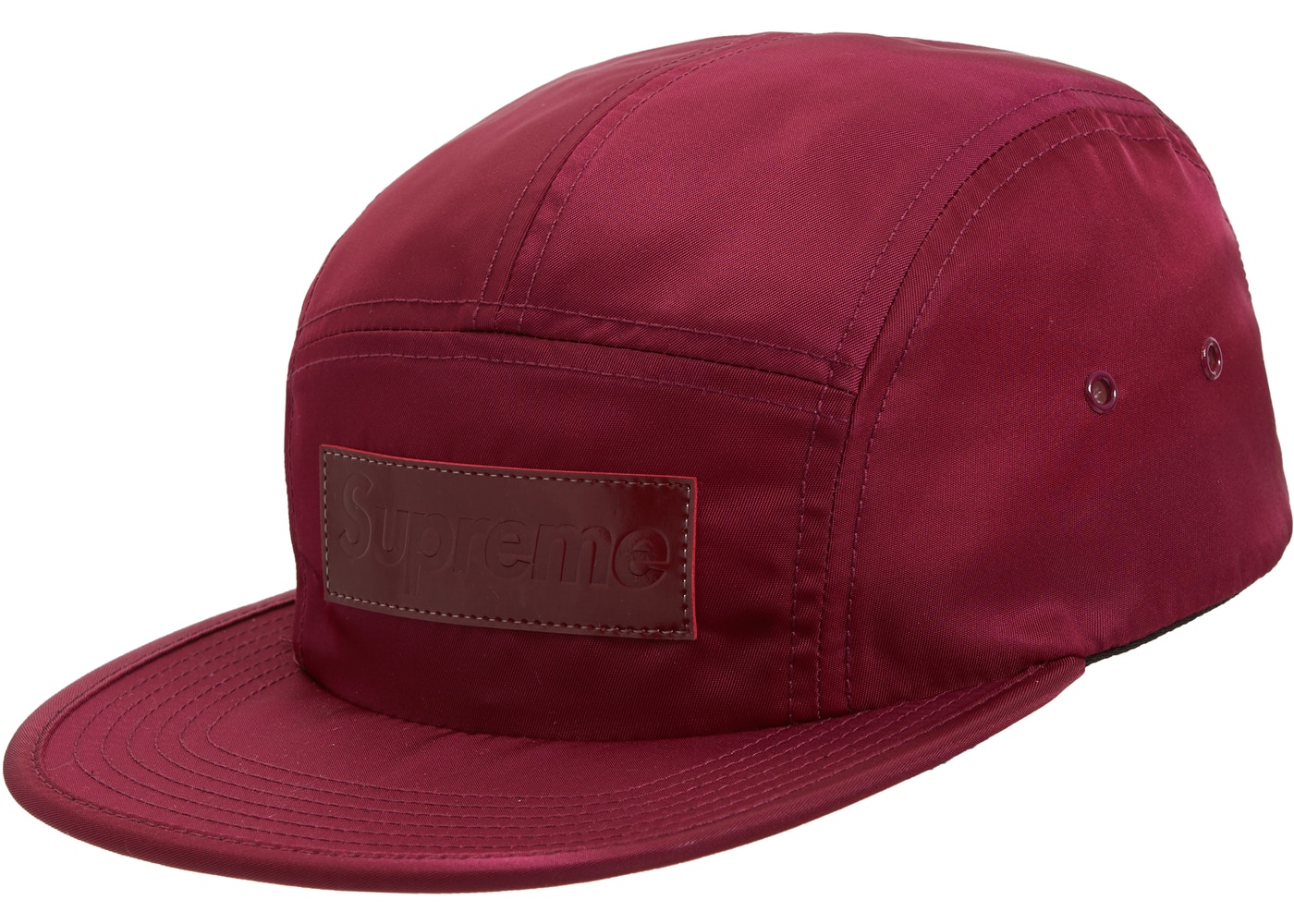 cde0be65cc6014 Supreme Patent Leather Patch Camp Cap Plum - FW18