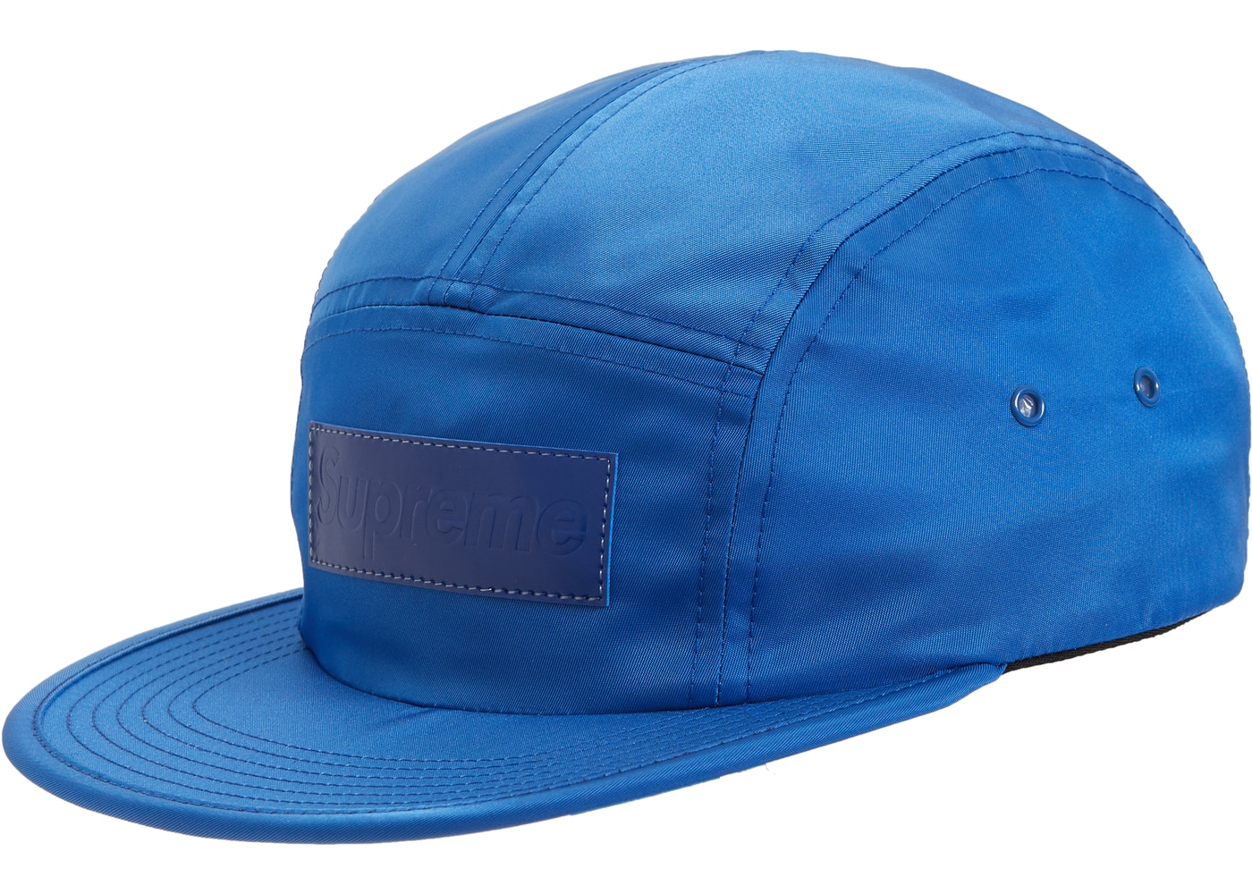 bc0344c0 Supreme Patent Leather Patch Camp Cap Royal - FW18