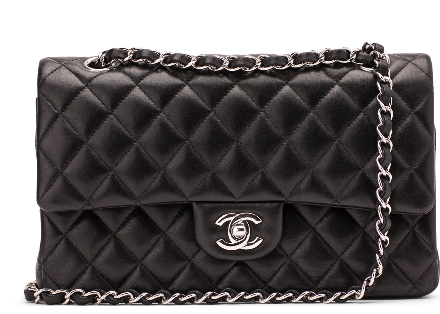 a054b1833076 Chanel Classic Double Flap Quilted Medium Black