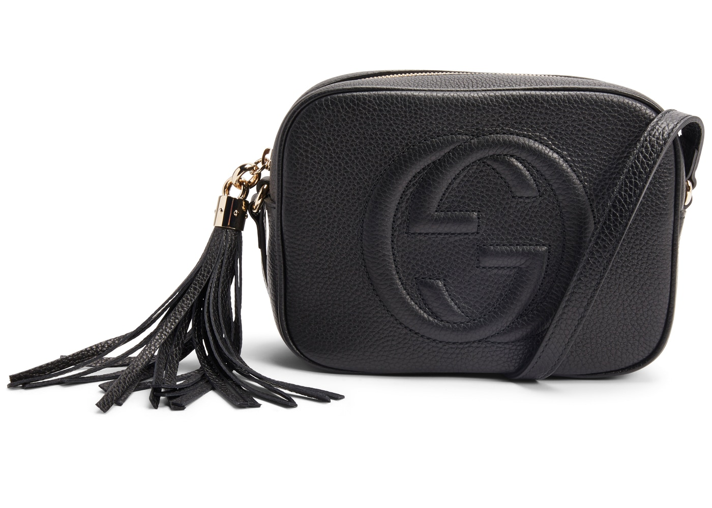 738653f413329c Gucci Soho Disco Leather Small Black