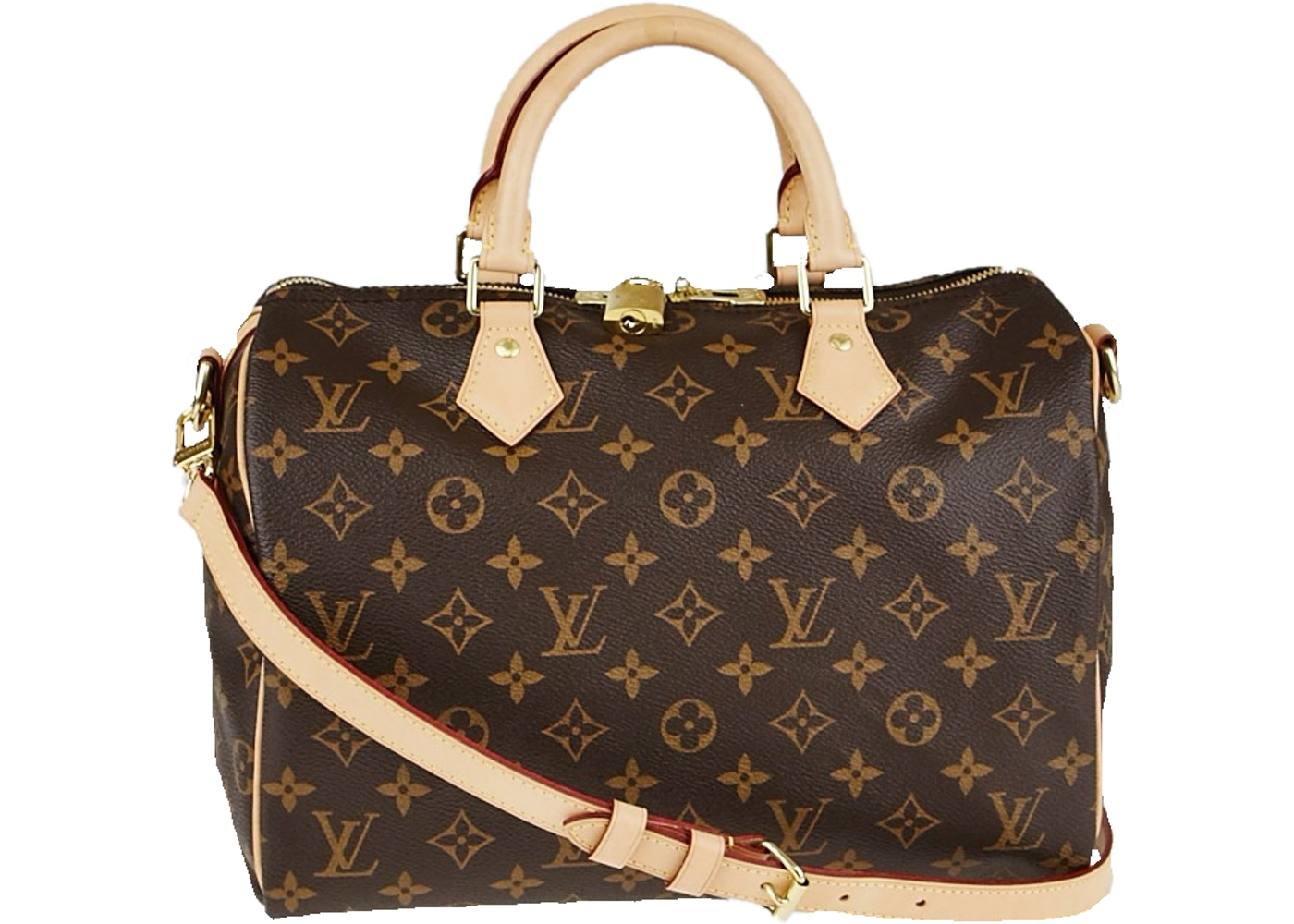 Louis Vuitton Speedy Bandouliere Monogram 30 Brown b372f50f57cae