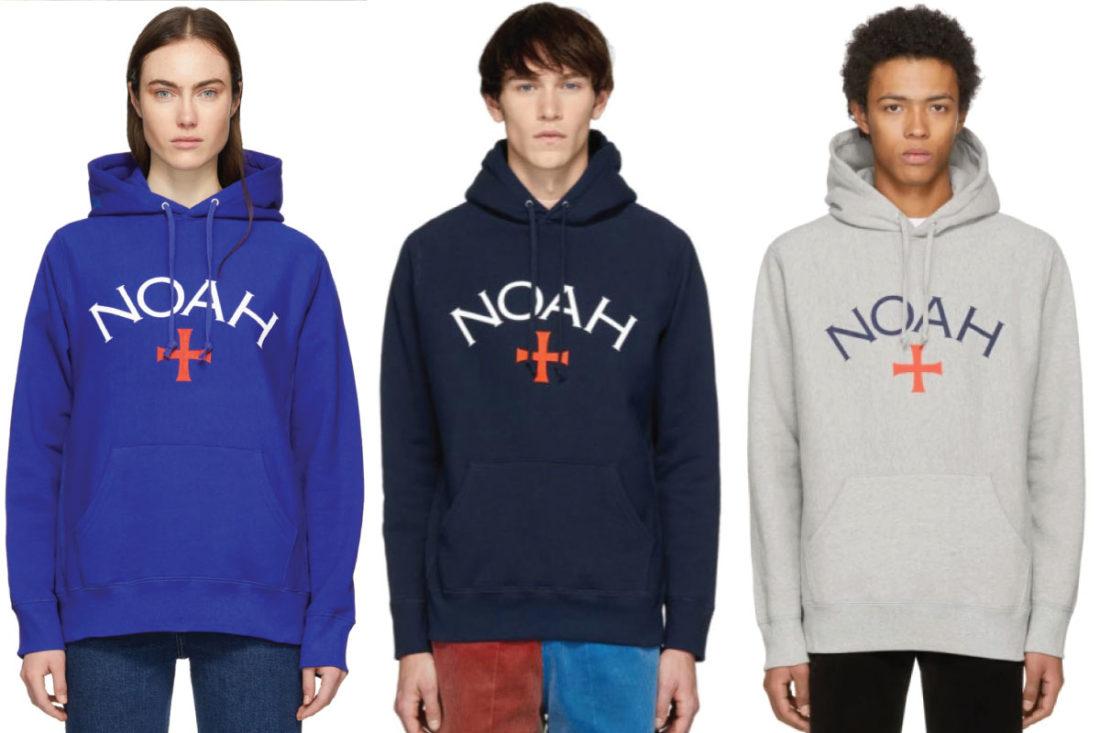 Noah Core Logo Hoodies Royal Blue Navy Grey