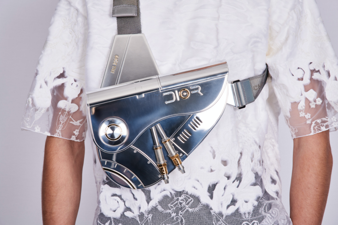 Dior Men's Pre-Fall Men's Saddle Bag Hajime Sorayama