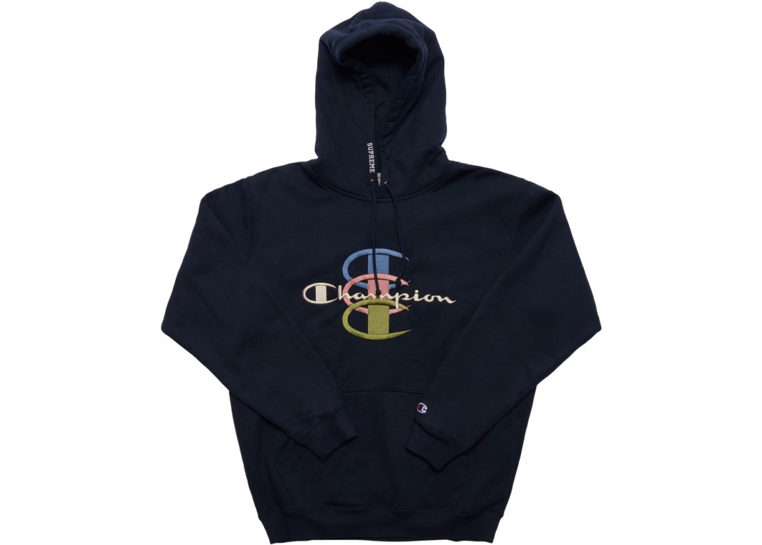 b9d555dd5d28 Supreme Champion Stacked C Hooded Sweatshirt Navy
