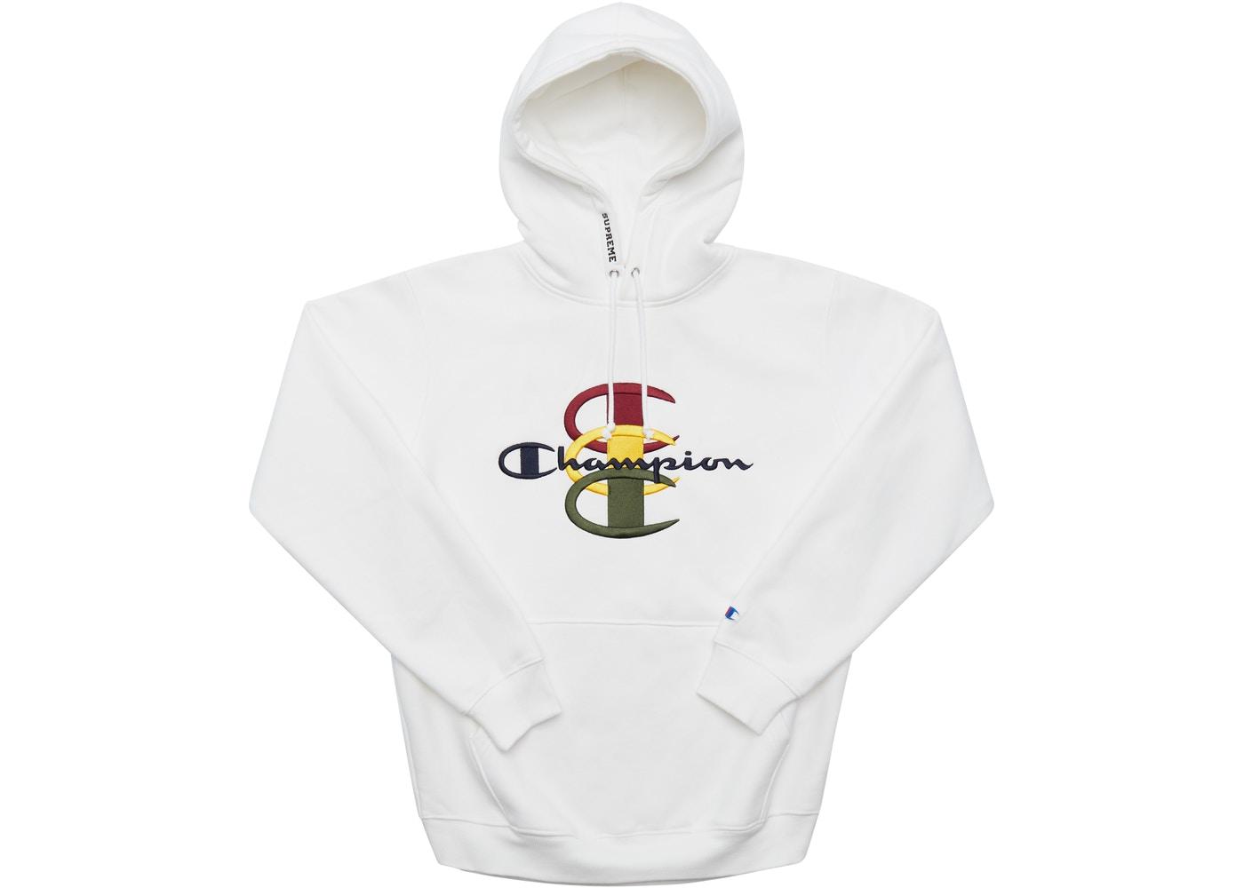 Stacked Supreme Sweatshirt Hooded C White Champion 0w8vmNn