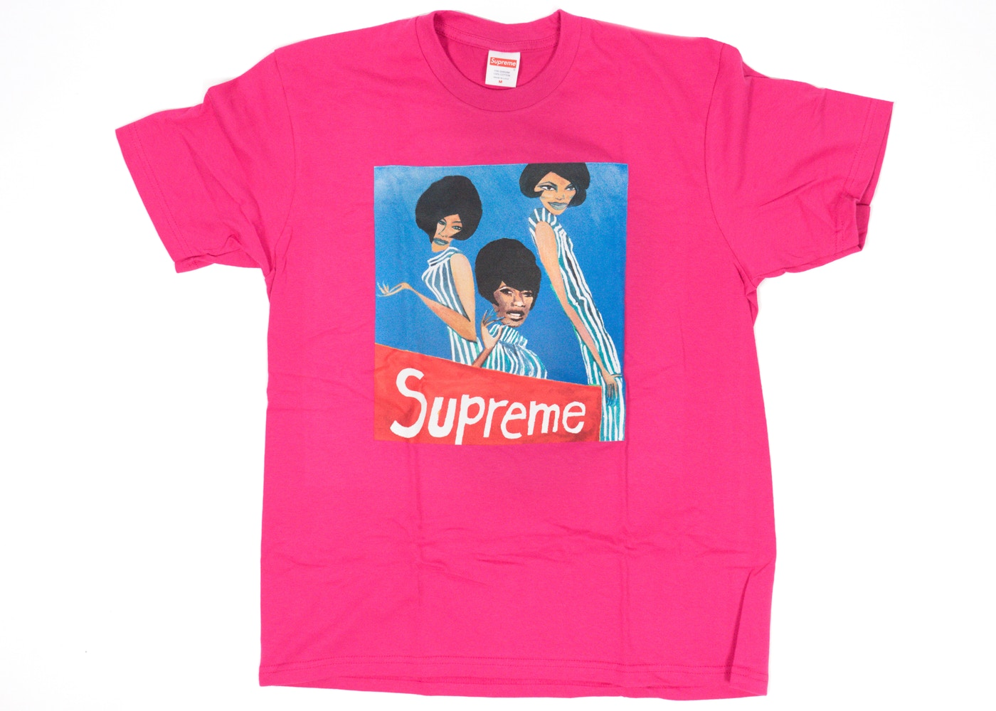 74221f63b495 Supreme Group Tee Dark Pink - FW18
