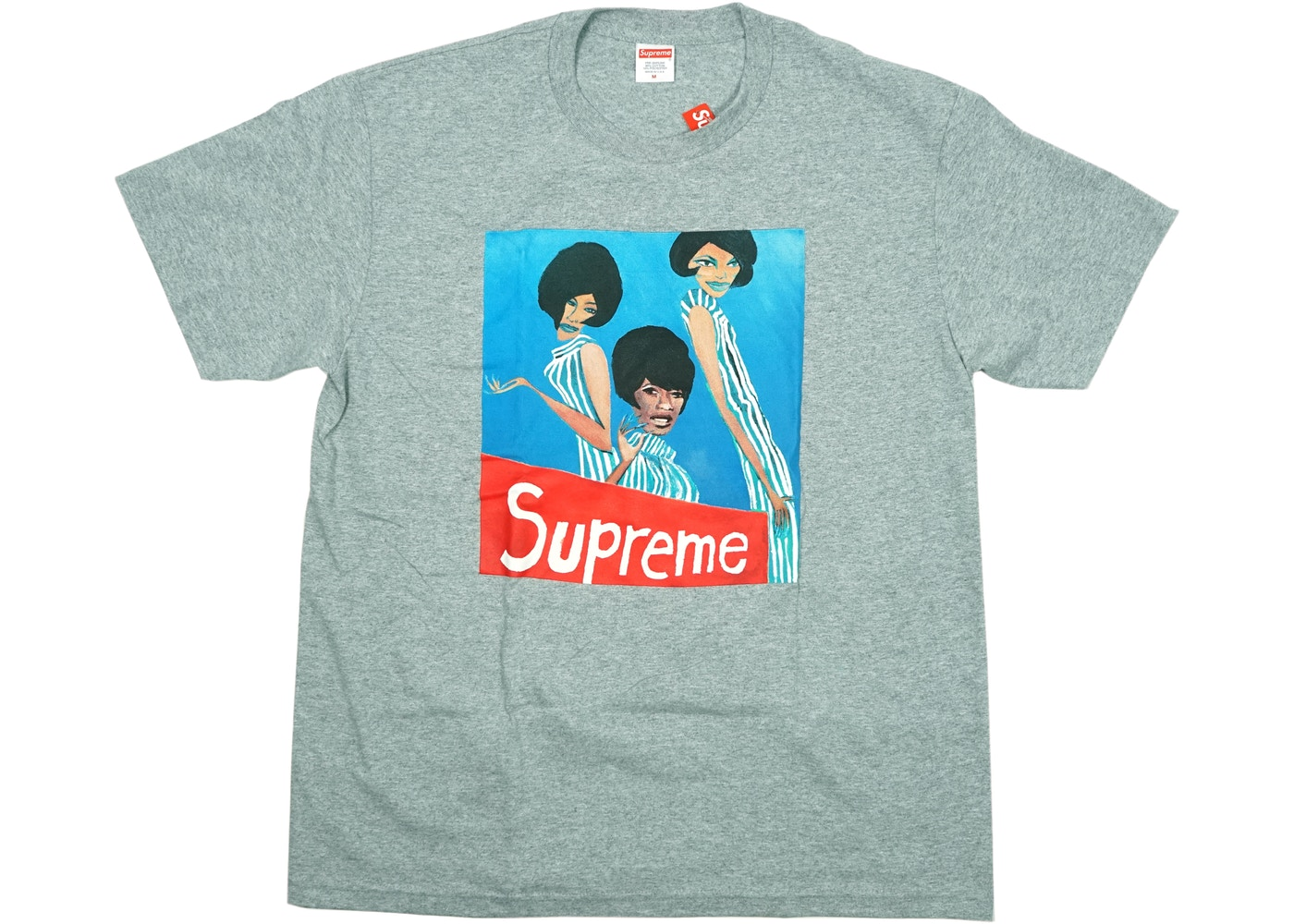 a7c48322 Supreme Group Tee Heather Grey - FW18