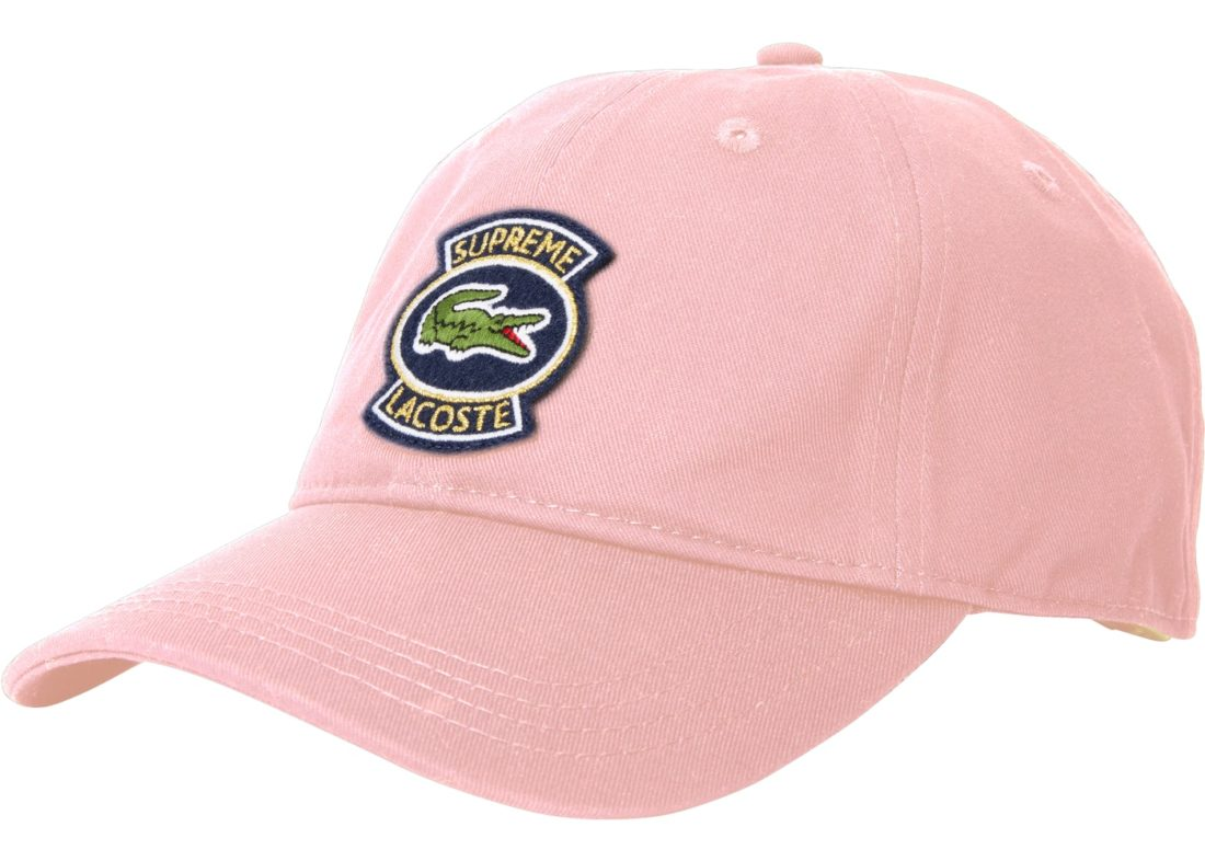 827294fb9a5 Supreme LACOSTE Twill 6-Panel Pink Spring Summer 2018