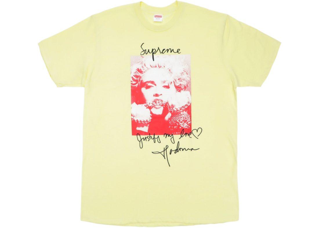 26a7405e3 Supreme Madonna Tee Pale Yellow - StockX News