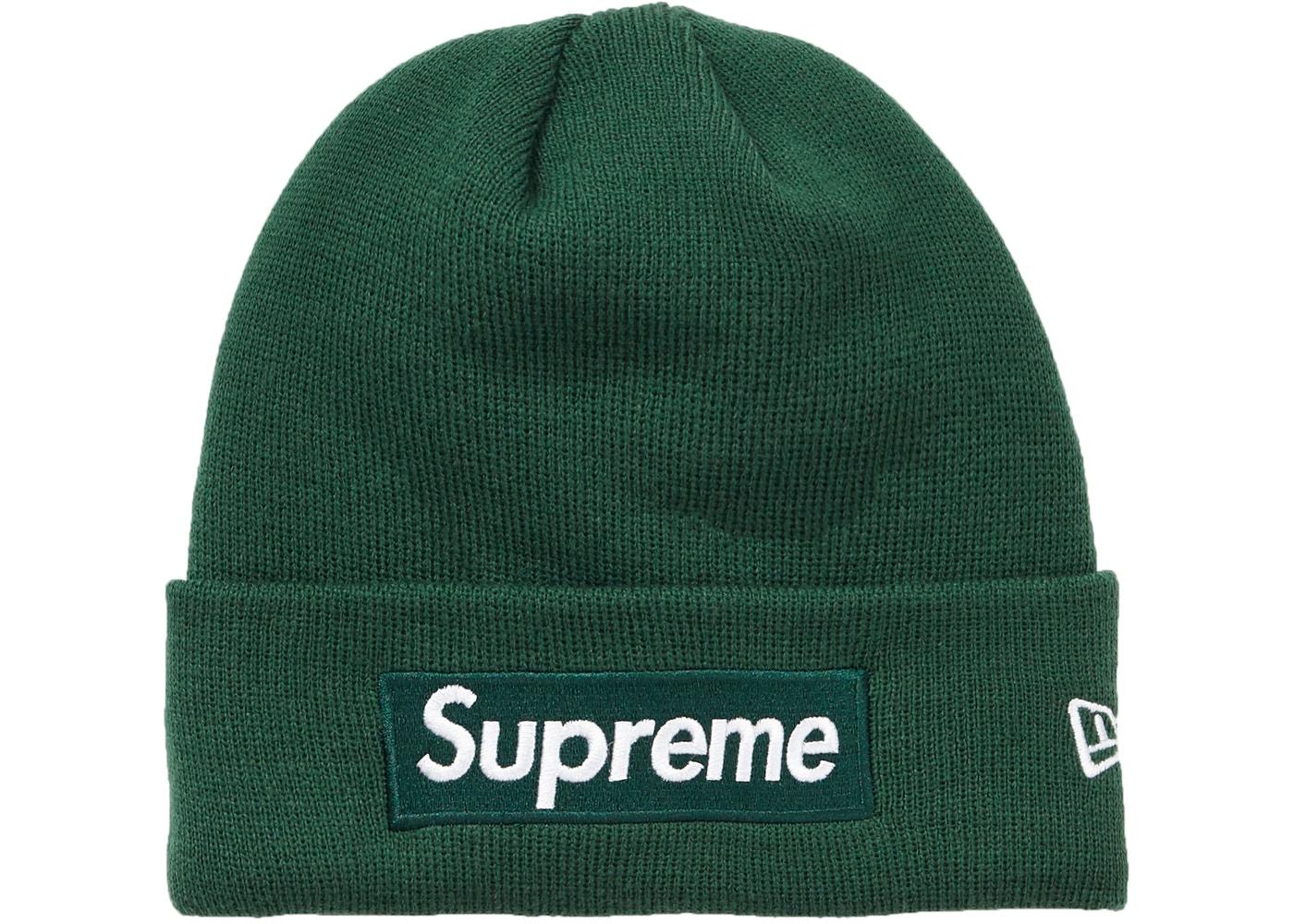 83e2640414c0e Supreme New Era Box Logo Beanie (FW18) Dark Green - FW18
