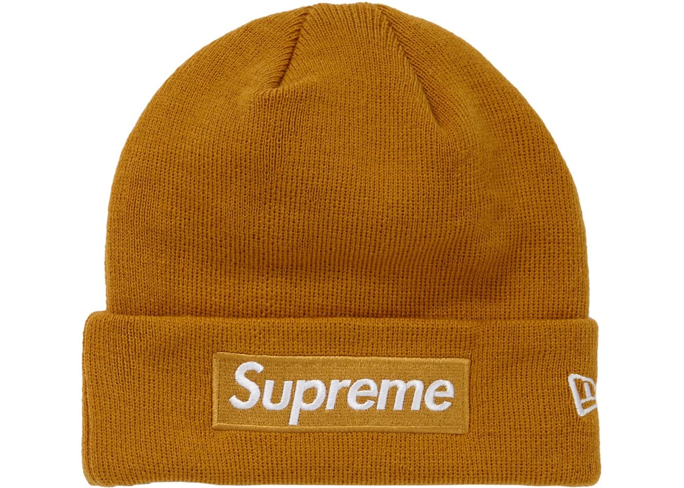 Supreme New Era Box Logo Beanie (FW18) Mustard - FW18 8da15314f0f