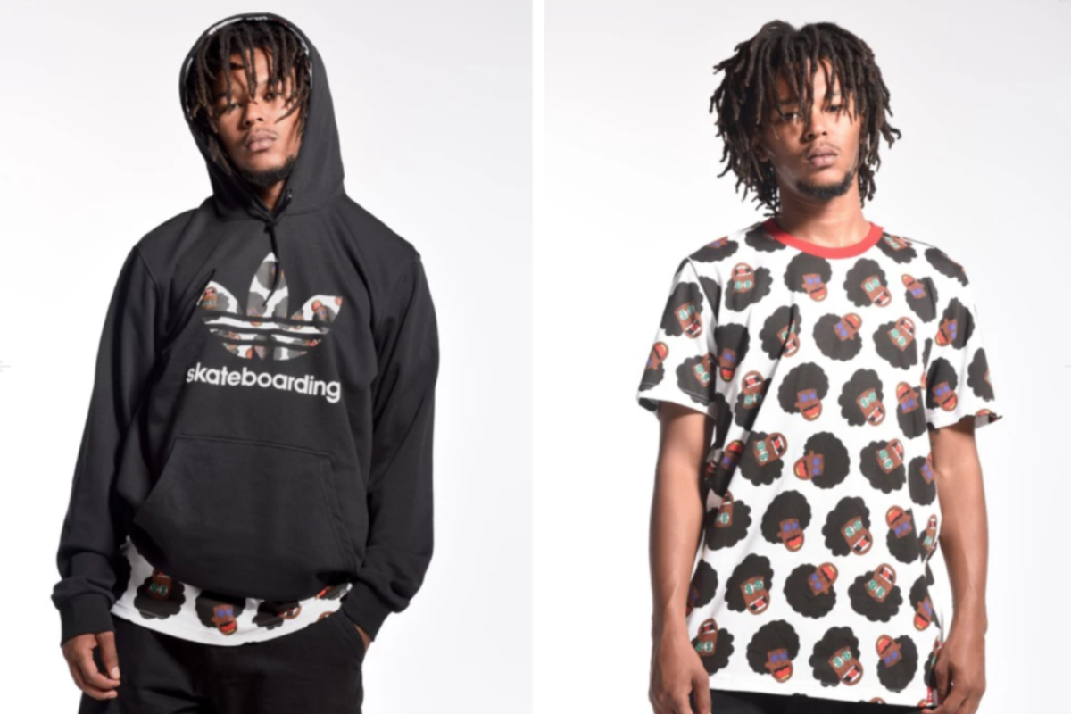 Na-Kel Smith in his adidas Skateboarding collaboration apparel