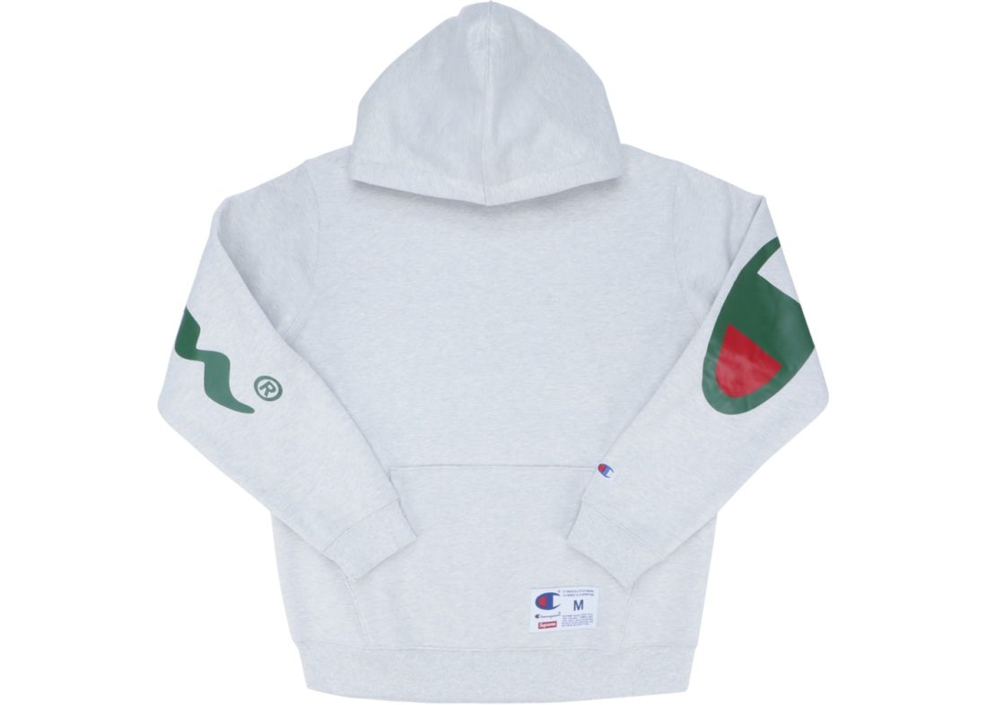 Supreme Grey Champion Hooded Sweatshirtss18Ash Supreme Hooded Supreme Champion Sweatshirtss18Ash Champion Hooded Grey sQrthdCx