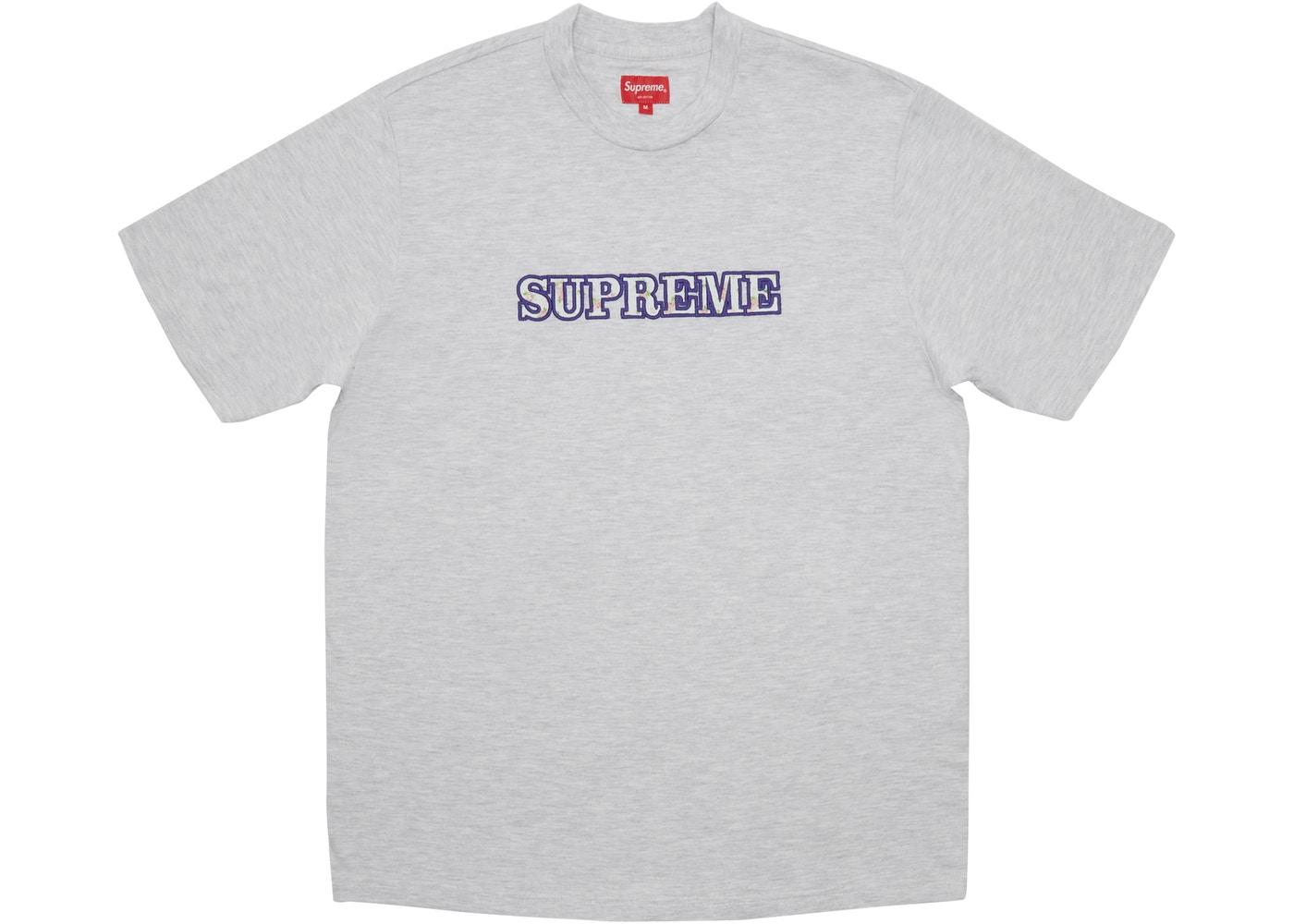5b6116ce ... Stockx Logo: Supreme Floral Logo Tee Ash Grey