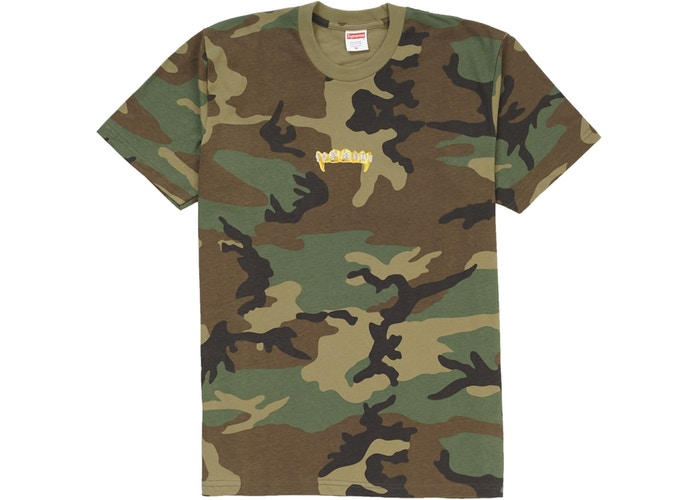 9fc542b8 Supreme Fronts Tee Woodland Camo - StockX News