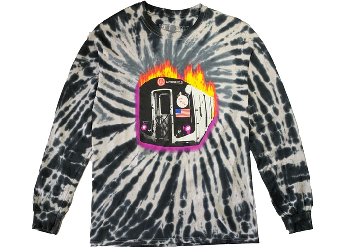 154e31b4 Best Long Sleeve Tee: Astroworld Tour Burning Train