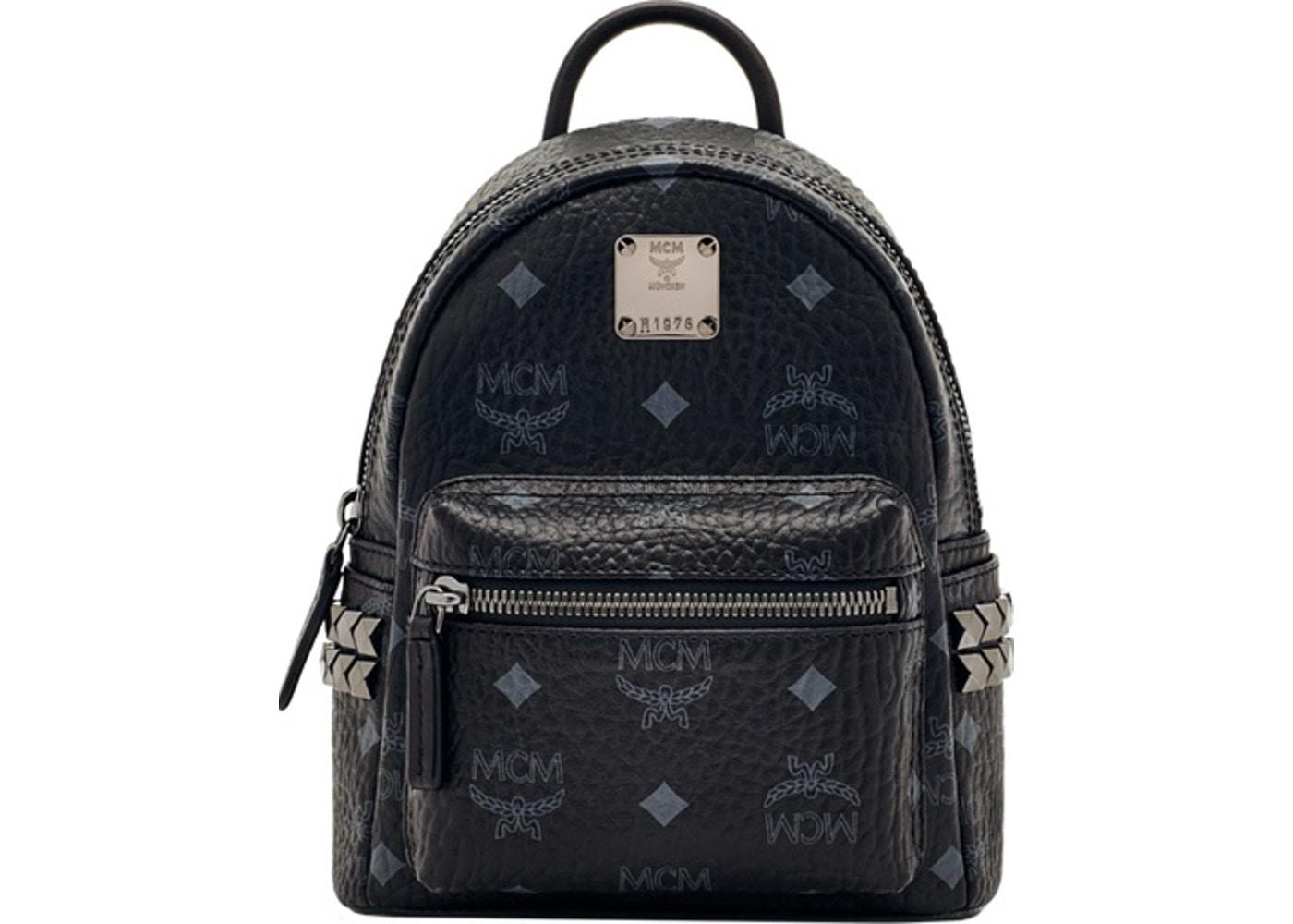 6de4b80e1698 MCM Stark Bebe Boo Backpack Visetos Side Studs X-Mini Black