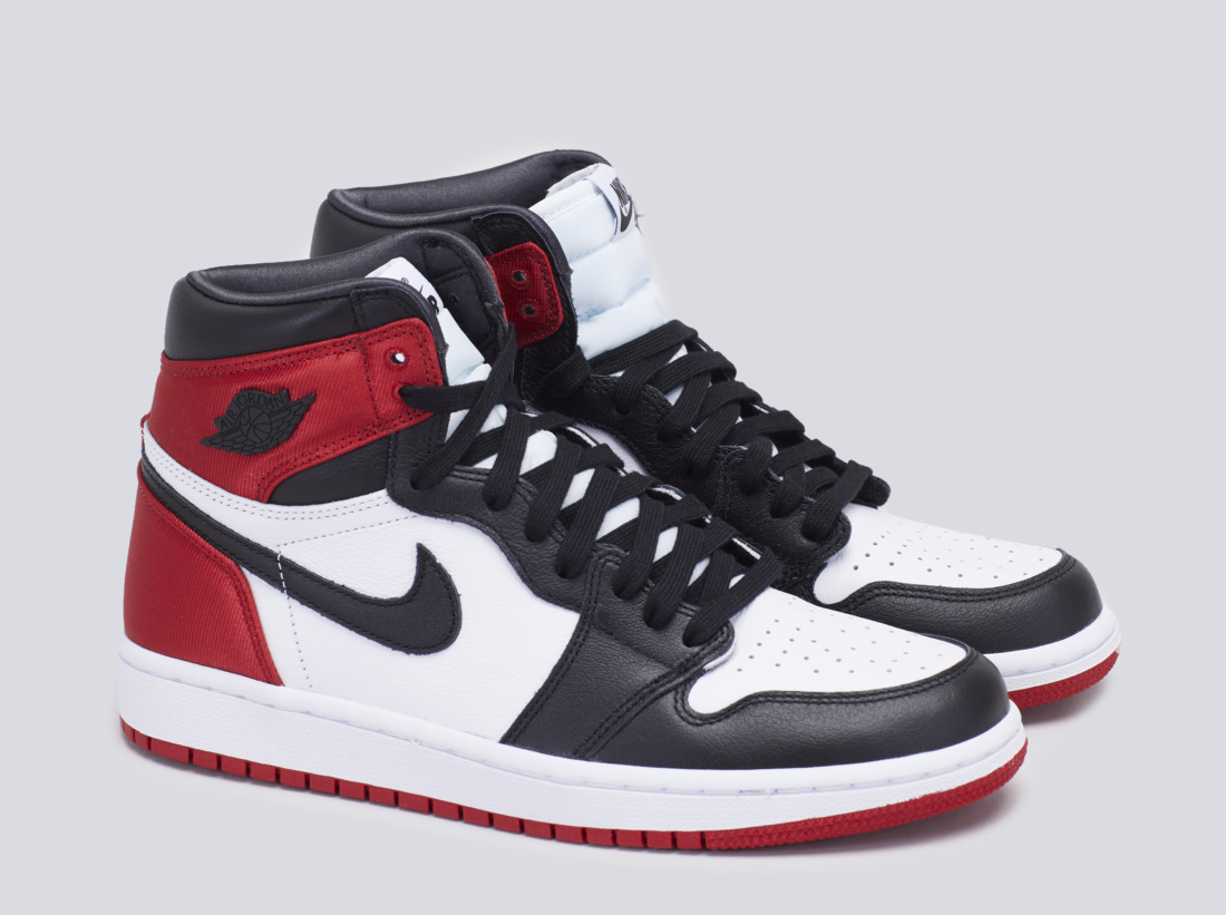 big sale bcd21 cd271 Air Jordan 1 Retro High Satin Black Toe (W) - By The Numbers ...