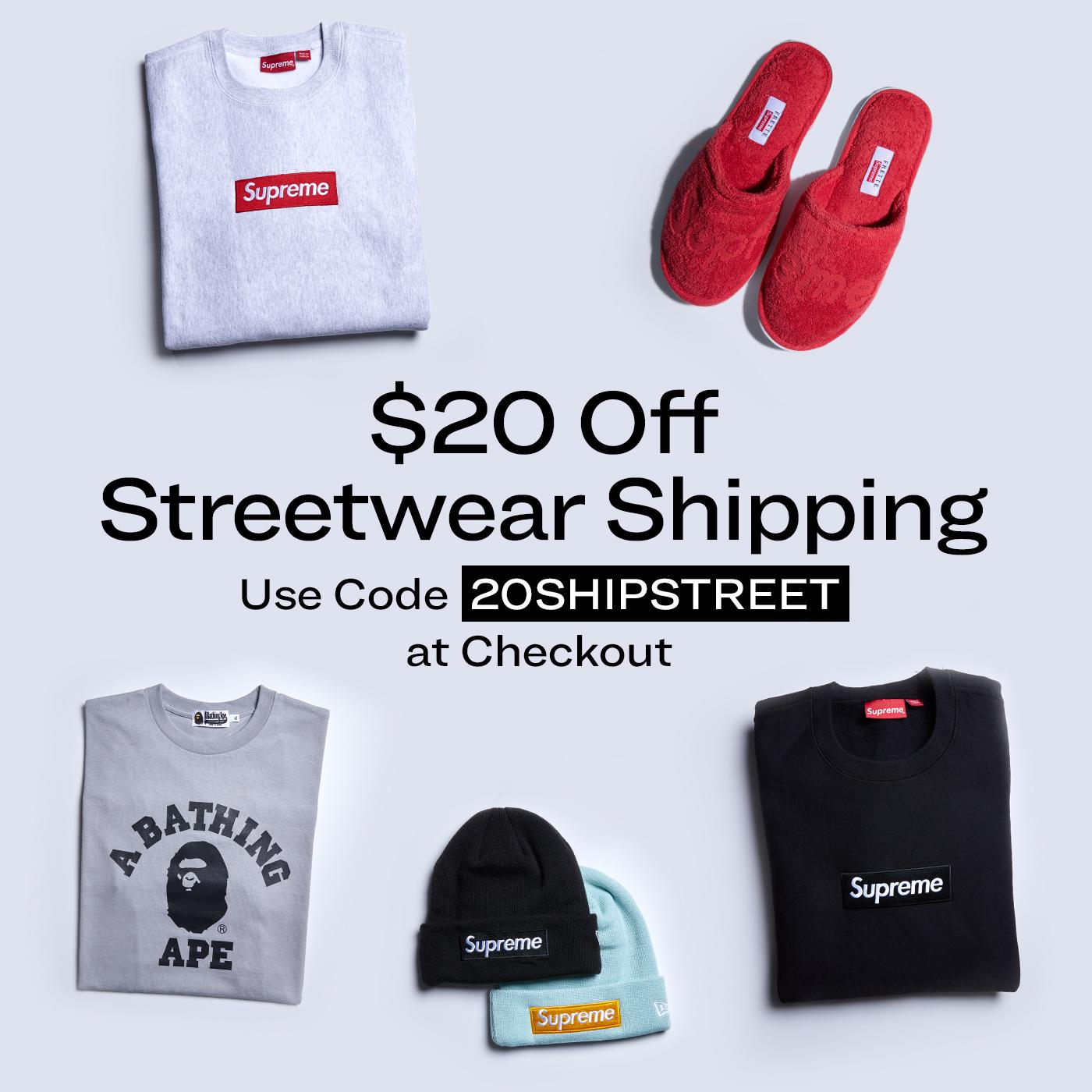 Half Off Streetwear Shipping Fees
