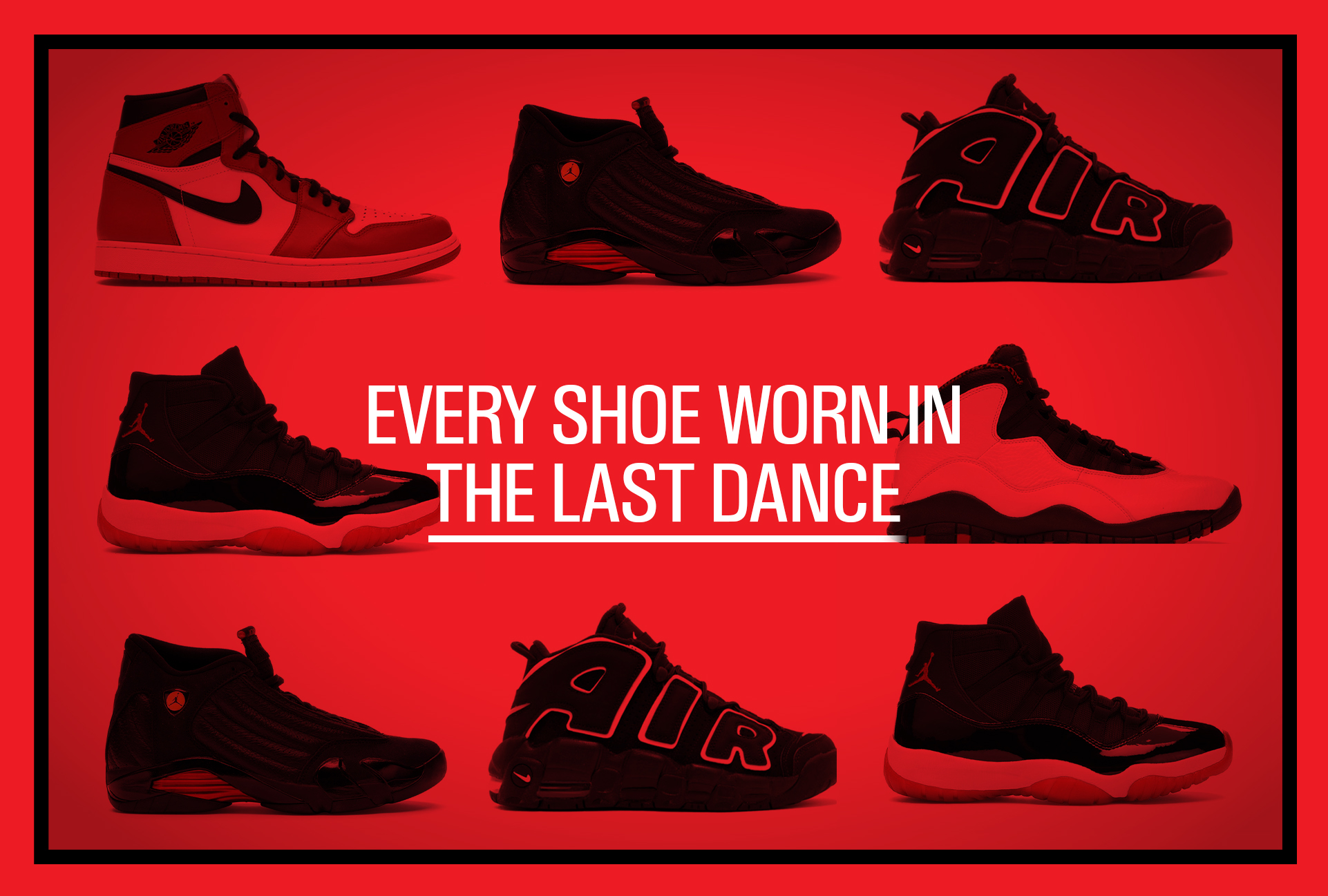 every shoe worn in the last dance