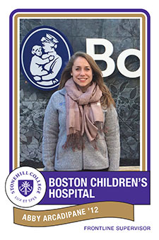 Abby Arcadipane '12, Boston Children's Hospital from Stonehill College