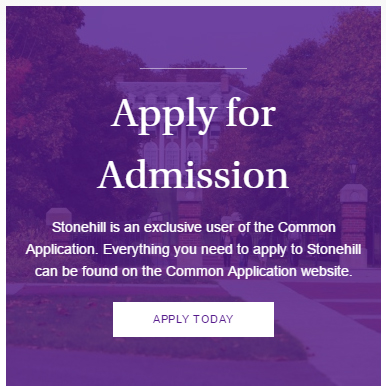 First Year Applicants Stonehill College