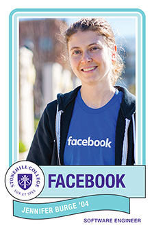 Jen Burge '04 Facebook Sofware Engineer from Stonehill College