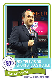 Ryan Asselta, Fox Television and Sports Illustrated from Stonehill College