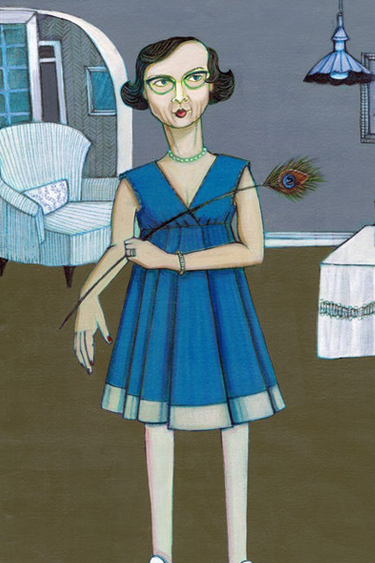 Flannery O'Connor illustration by Katherine Sandoz