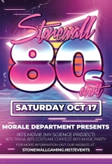 Stonewall 80's Night!