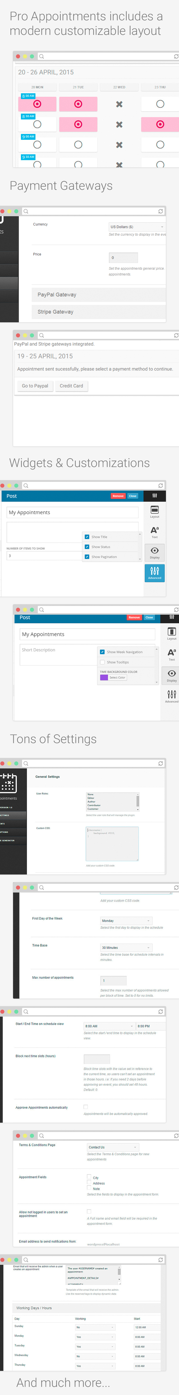 Wordpress Pro Appointments