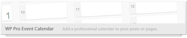 Wordpress Events Calendar - 3
