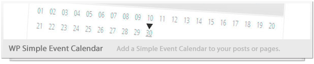 Simple Event Calendar Ajouter simple