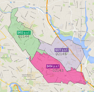 Somerville Zip Code Map PSF