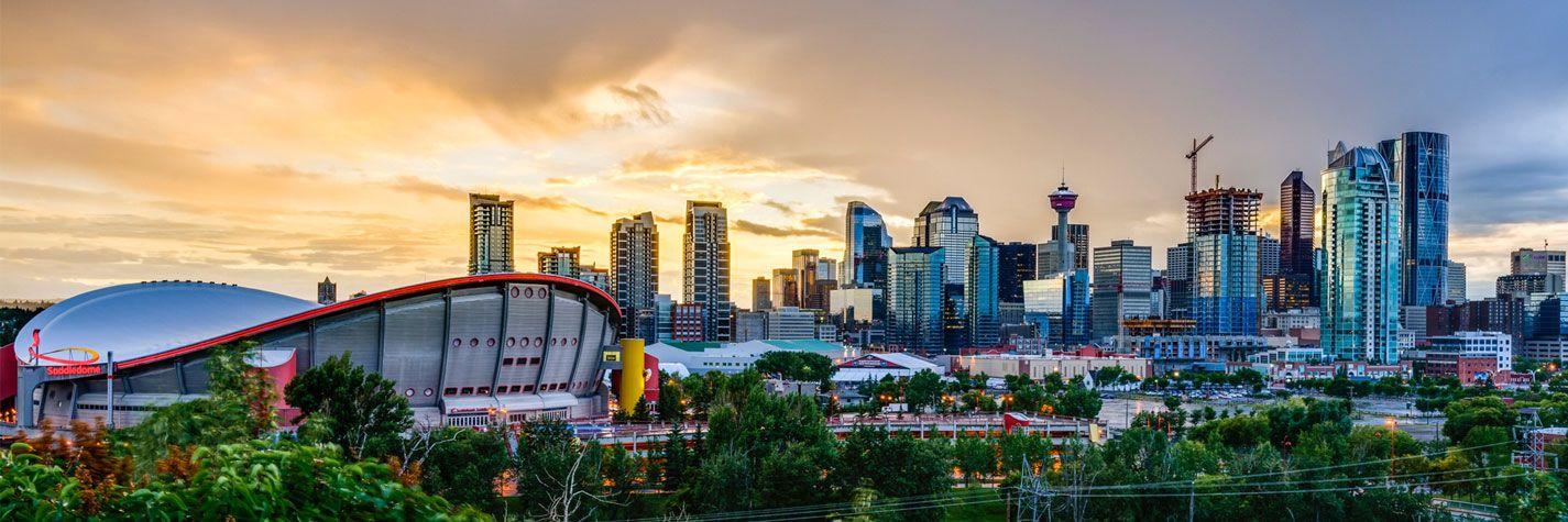 Calgary cityscape banner