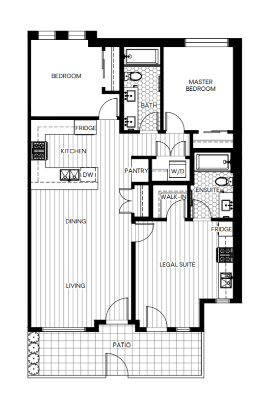 Sample 2 bedroom with Lock-off legal suite